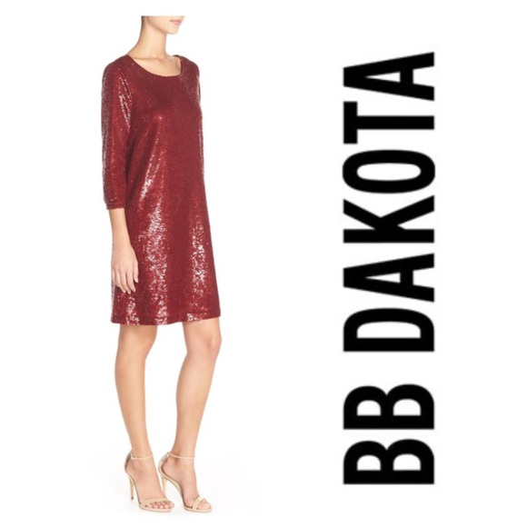 3f540fcd6579 BB Dakota Dresses | Miles Red Sequin Shift Dress | Poshmark